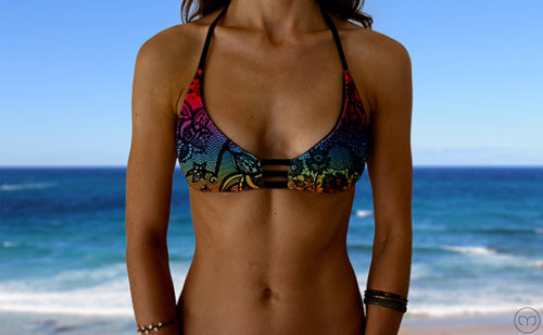 Racy Triangle Rainbow Lace Marleez Bikinis