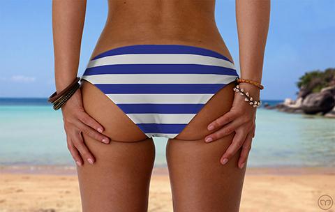 Scrunchy Hawaiian Blue Lines Marleez Bikinis