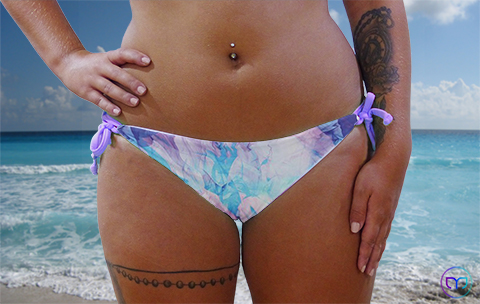 Bands - Panties - Lilac - Vapor - lightblue - vorn