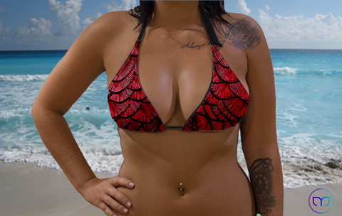 Little Triangle Mother of Dragon Red Marleez Bikinis