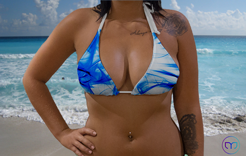Little Triangle Smoky Blue Marleez Bikinis