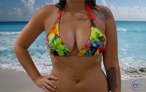 Little Triangle Flashing Flowers Marleez Bikinis
