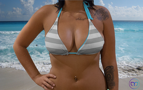 Little Triangle Grey Lines Marleez Bikinis