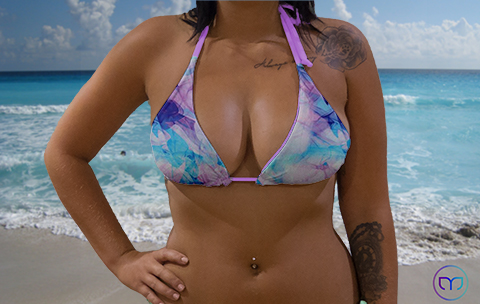 Little Trianfle Lilac Vapor Marleez Bikinis