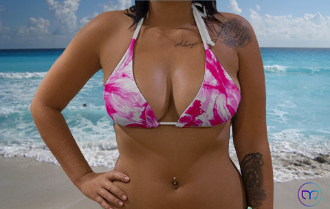 Little Triangle Pink Flowers Marleez Bikinis