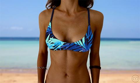 Salty Sports Bra Waterpalm Marleez Bikinis