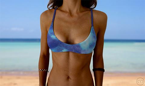 Salty Sports Bra Blue Night Marleez Bikinis