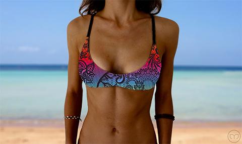 Salty Sports Bra Rainbow Lace Marleez Bikinis
