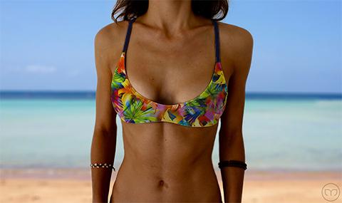 Salty Sports Bra Flashing Flowers Marleez Bikinis