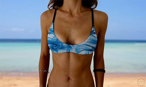 Salty Sports Bra Smoky Blue Marleez Bikinis