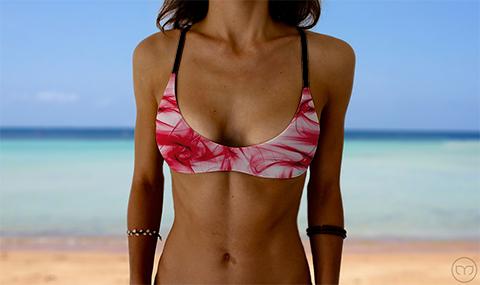 Salty Sports Bra Smoky Red Marleez Bikinis