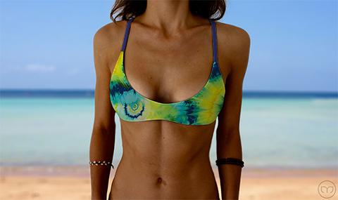 Salty Sports Bra Turquoise Splash Marleez Bikinis