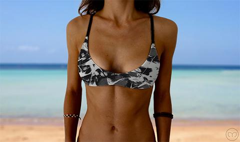 Salty Sports Bra Wild Jungle Marleez Bikinis