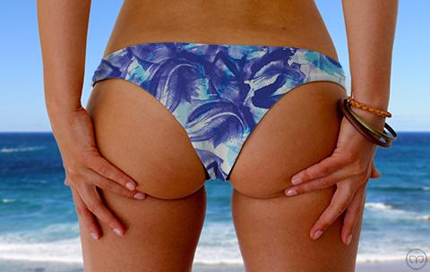Cheeky Brazilian Blue Flowers Marleez Bikinis