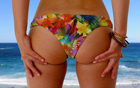 Cheeky Brazilian Flashing Flowers Marleez Bikinis