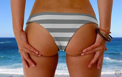 Cheeky Brazilian Grey Lines Marleez Bikinis