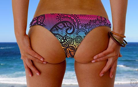 Cheeky Brazilian Rainbow Lace Marleez Bikinis