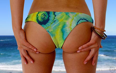 Cheeky Brazilian Turquoise Splash Marleez Bikinis