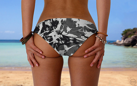 Scrunchy Hawaiian Wild Jungle Marleez Bikinis