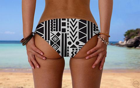 Srunchy Hawaiian Urban Nights Marleez Bikinis