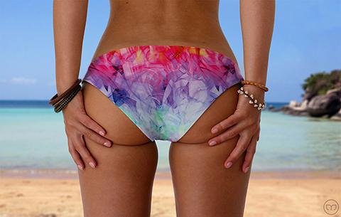 Scrunchy Hawaiian Candy Vapor Marleez Bikinis