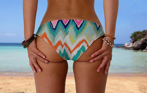 Scrunchy Hawaiian Crazy Zebra Marleez Bikinis