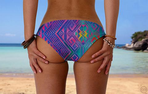 Scrunchy Hawaiian Magical Maze Marleez Bikinis