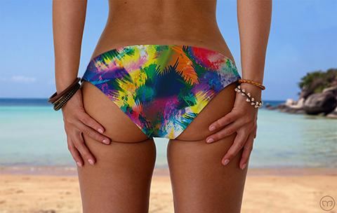 Scrunchy Hawaiian Palm Leaf Marleez Bikinis