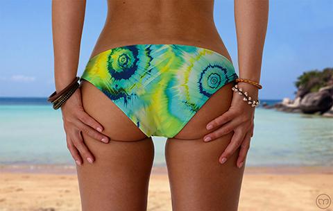 Scrunchy Hawaiian Turquoise Splash Marleez Bikinis