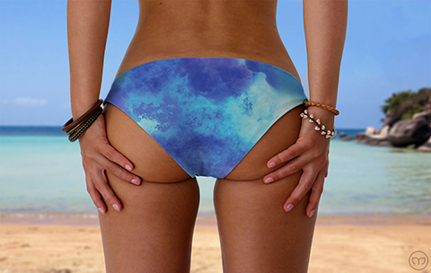 Scrunchy Hawaiian Blue Night Marleez Bikinis
