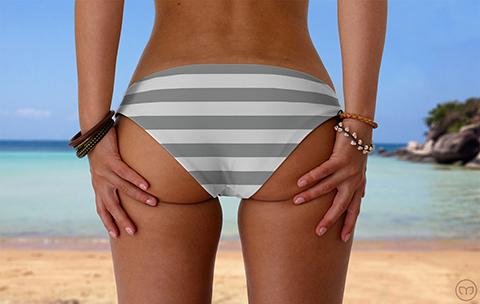 Scrunchy Hawaiian Grey Lines Marleez Bikinis