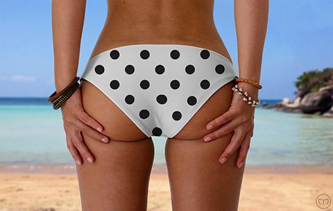 Scrunchy Hawaiian Dalmatian Dots Marleez Bikinis