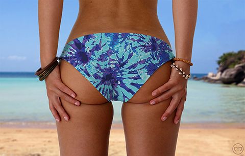 Scrunchy Hawaiian Mapple Tree Marleez Bikinis