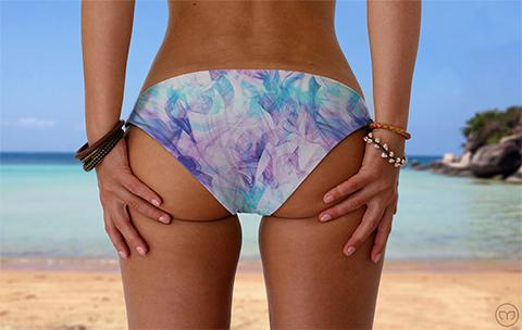 Scrunchy Hawaiian Lilac Vapor Marleez Bikinis