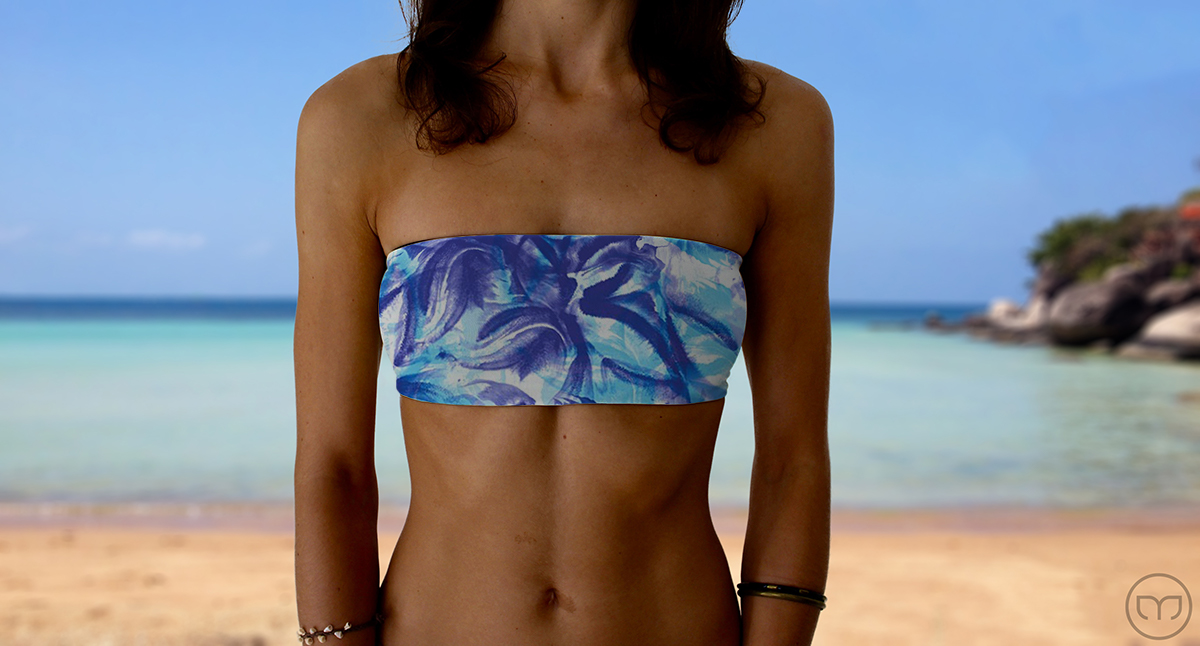 Graceful Bandeau Blue Flowers