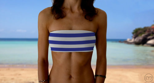 Graceful Bandeau Blue Lines