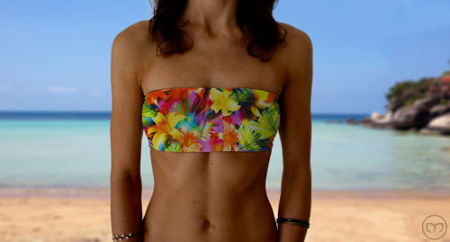 Graceful Bandeau Flashing Flowers