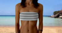 Graceful Bandeau Grey Lines