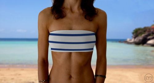 Graceful Bandeau Marine Lines