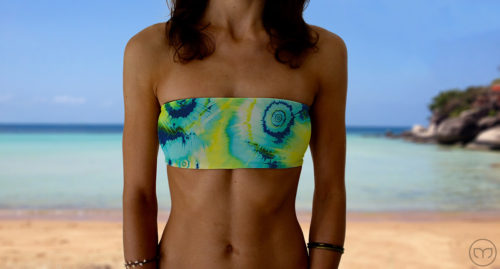 Graceful Bandeau Turquoise Splash