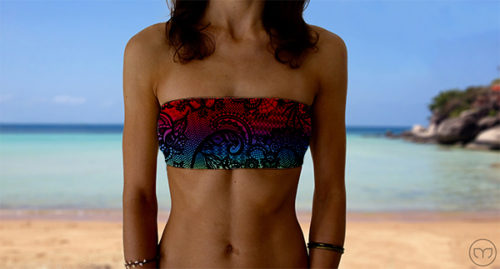 Graceful Bandeau Rainbow Lace