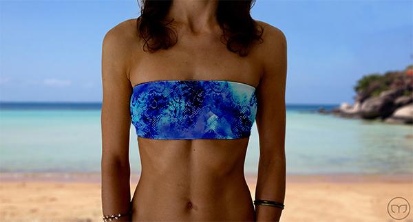Graceful Bandeau Watercolor Lace